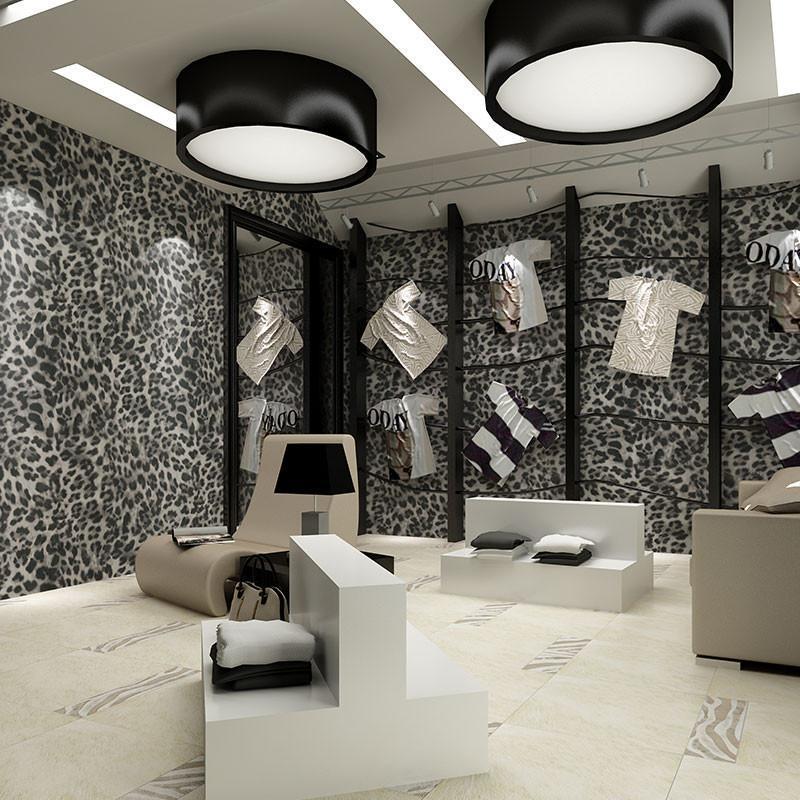 米素壁紙 酒店ktv服裝店 裝修壁紙 3d墻紙 立體個性簡約墻紙 豹紋