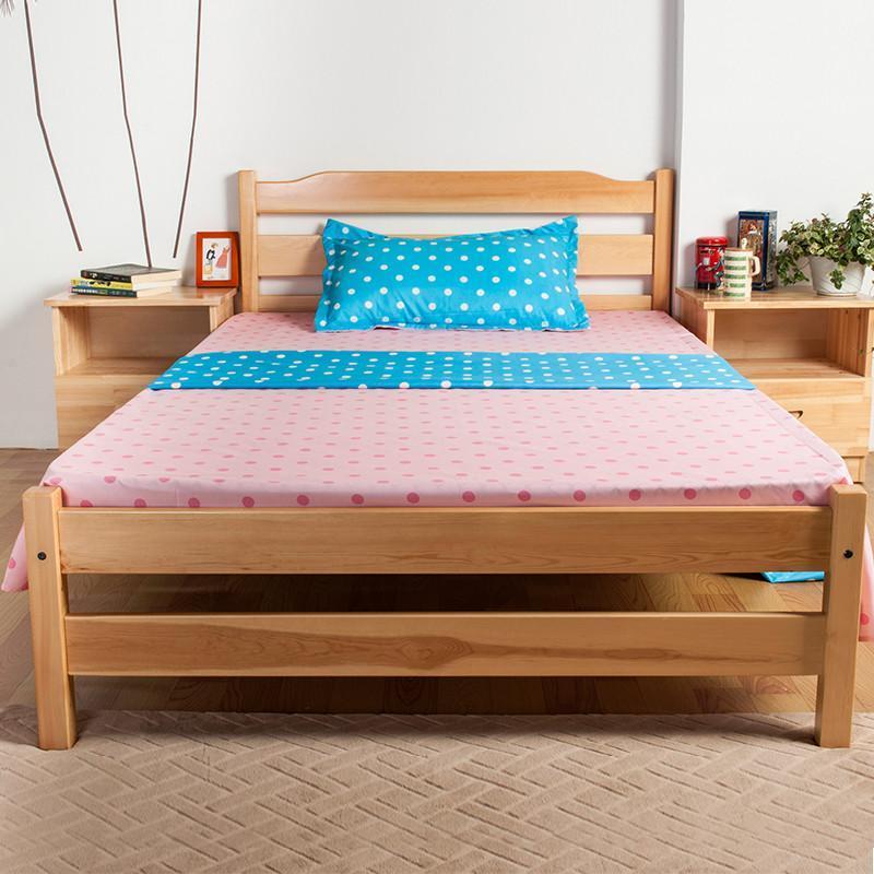 【翠景园系列】翠景园环保松木床家具实木床双人床人
