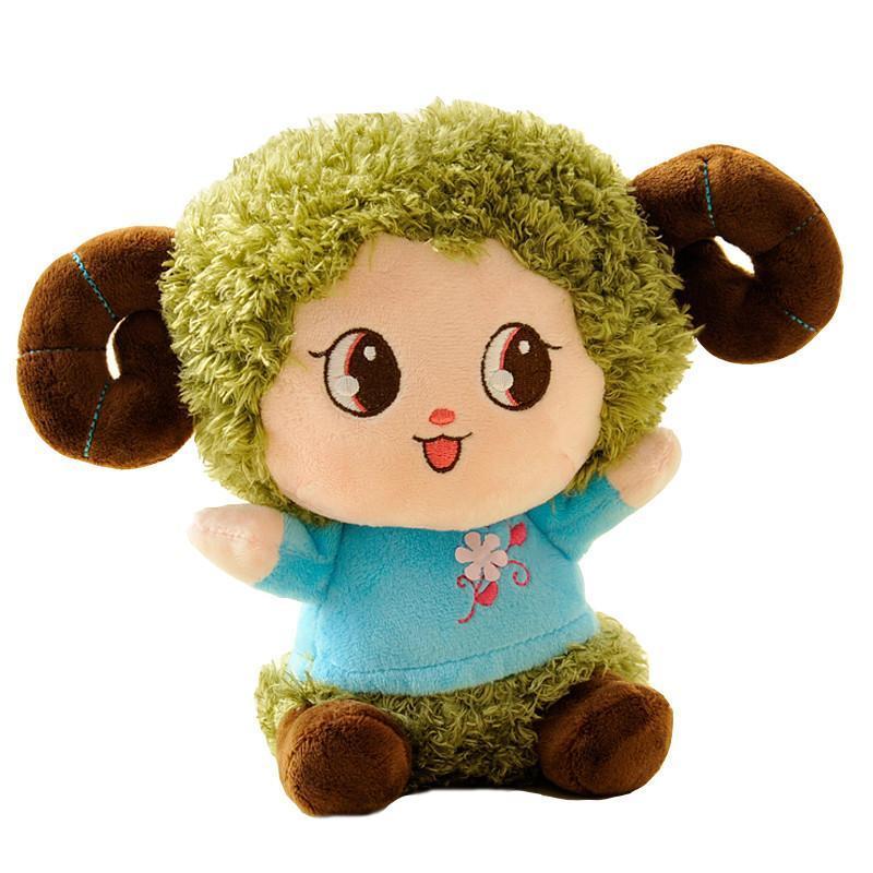 绒言绒语 汽车挂件 卡通羊娃娃 羊年吉祥物 毛绒小玩偶 公仔玩偶 绿色