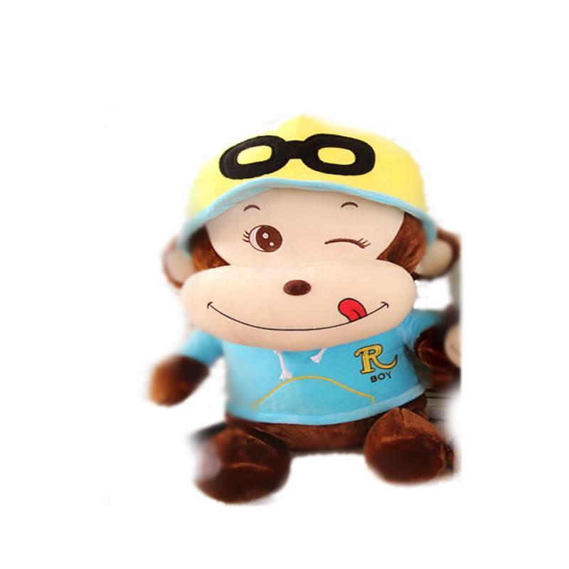 ted智能娃娃】luckyted可爱卡通戴帽子猴子