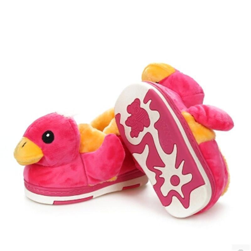 大黄鸭可爱卡通儿童宝宝棉鞋 小童冬季包跟家居棉拖鞋 包邮 k 黄色15