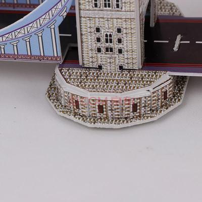 领乐思简装3d立体拼图英国伦敦塔桥双子桥