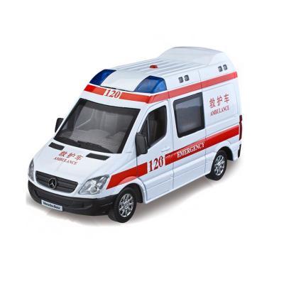 兒童玩具 120救護車急救車 110警車聲光版回力合金小汽車 男孩玩具