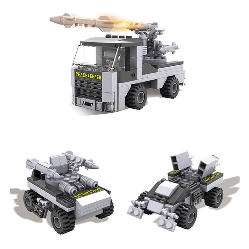 cogo积高lw13007拼装玩具积木军事航母拼插积木8合1南海战舰益智塑料