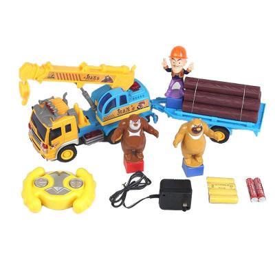 熊出没光头强工程队套装挖掘机玩具
