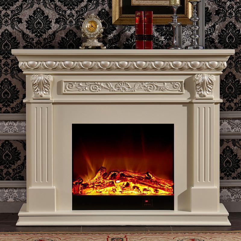 2/1.5/2米欧式壁炉 实木美式电壁炉装饰白色电视壁炉柜 1.
