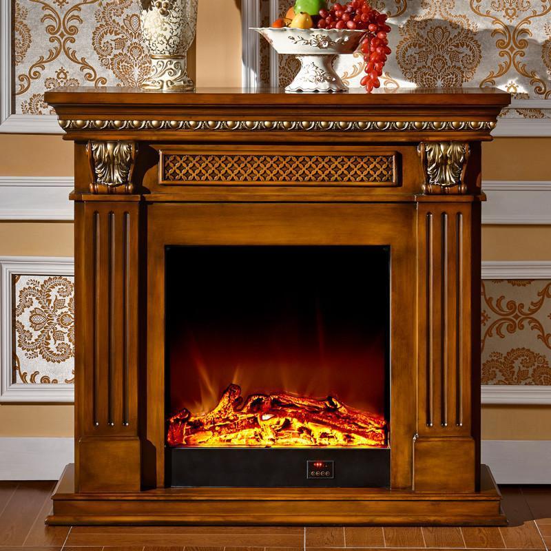 5/2米欧式壁炉 实木美式电壁炉装饰柜
