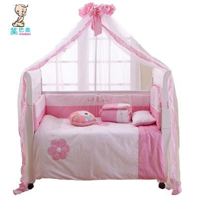 笑巴喜 新款万能安装蚊帐 开门式婴儿床蚊帐 宝宝蚊帐 童床蚊帐 落地