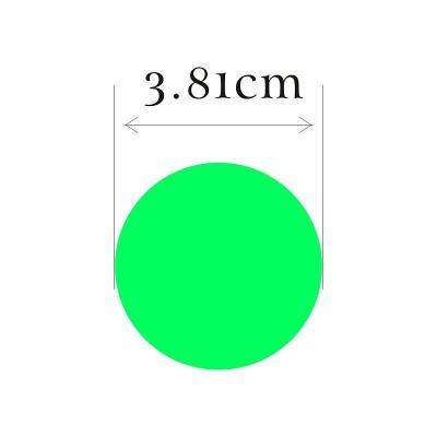 81cm 荧光绿色圆形 可打印不干胶自粘标签贴纸(喷墨/激光)