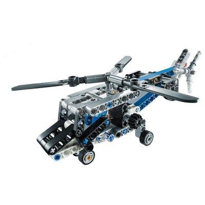 双翼螺旋桨直升机拼插