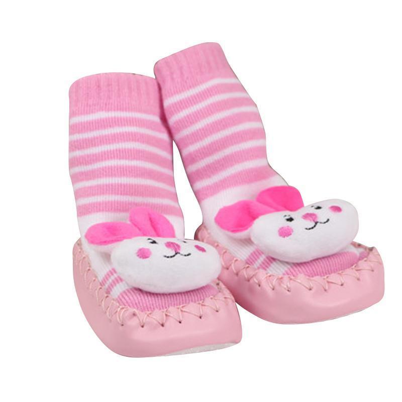新生婴儿袜子宝宝加厚学步鞋袜超可爱立体卡通袜防滑