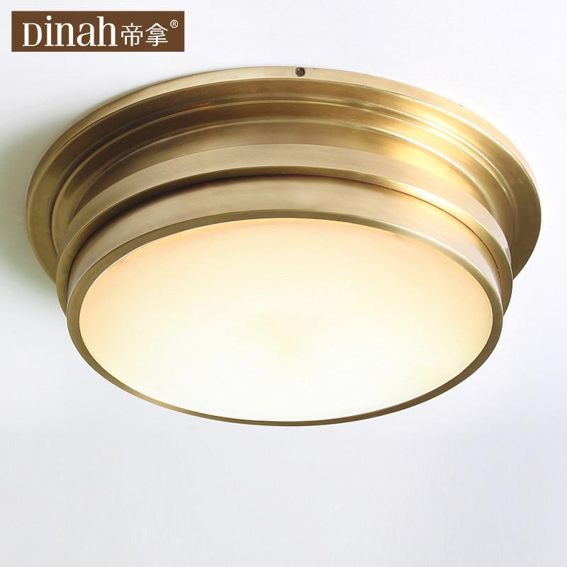 帝拿欧式吸顶灯美式全铜灯阳台玄关餐厅卧室装饰灯
