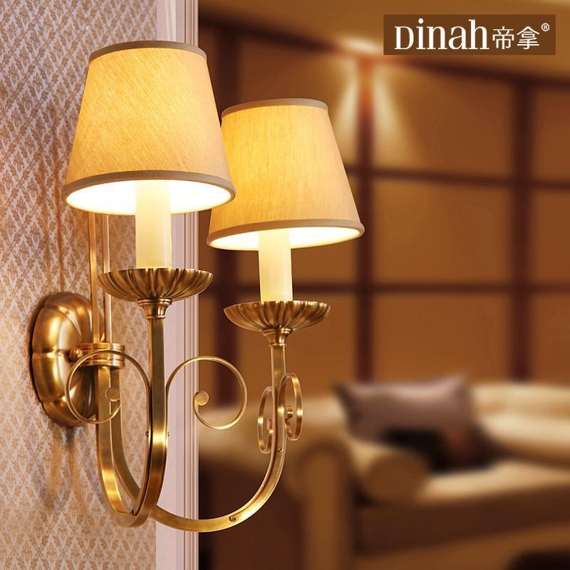 全纯铜卧室床头灯