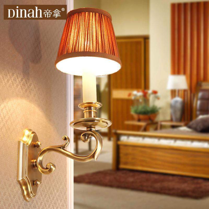 帝拿欧式客厅背景墙壁灯餐厅书房卧室床头壁灯美式