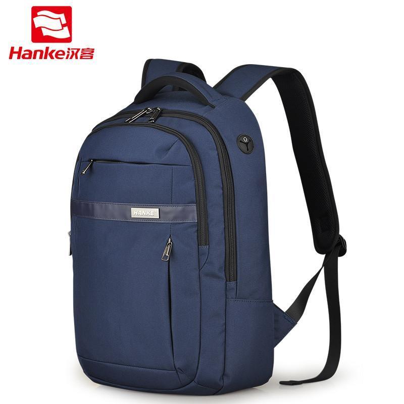 汉客新品 休闲男士双肩包 旅游背包中学生书包旅行包女商务电脑包
