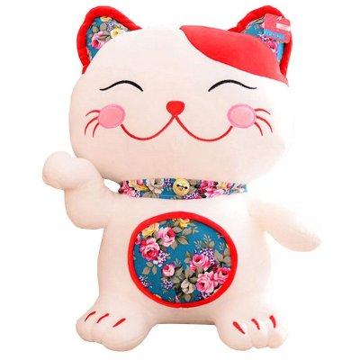 可爱卡通日本和风刺绣招财猫发财公仔儿童毛绒玩具布