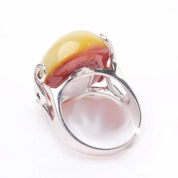波罗的海天然琥珀蜜蜡原石随型戒指