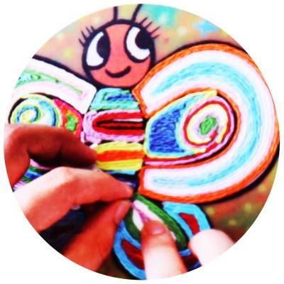 卡乐优 手工纸绳贴画 儿童艺术彩色纸绳套装 创意彩纸粘贴diy制作tz10