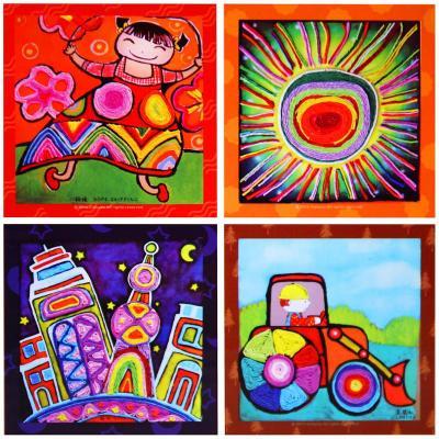 手工纸绳贴画 儿童艺术彩色纸绳套装