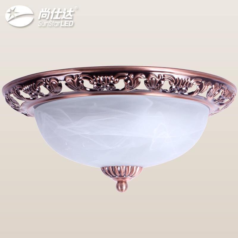 尚仕达 欧式吸顶灯 美式简约吸顶灯 云彩卧室餐厅阳台灯 古铜色复古
