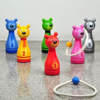 木制宝宝保龄球卡通动物幼儿球类玩具大号8102