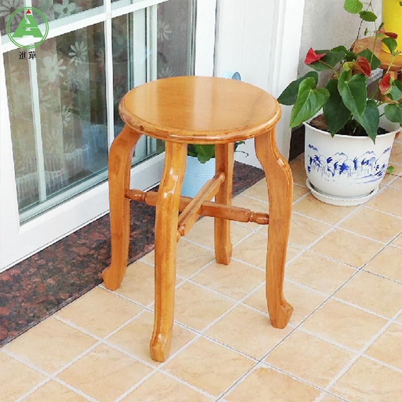 自营进华圆凳 实木仿古楠竹圆凳子 圆木凳 加厚型 高凳 餐凳 竹本色