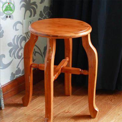 进华圆凳 实木仿古楠竹圆凳子 圆木凳 加厚型 高凳 餐凳 竹本色