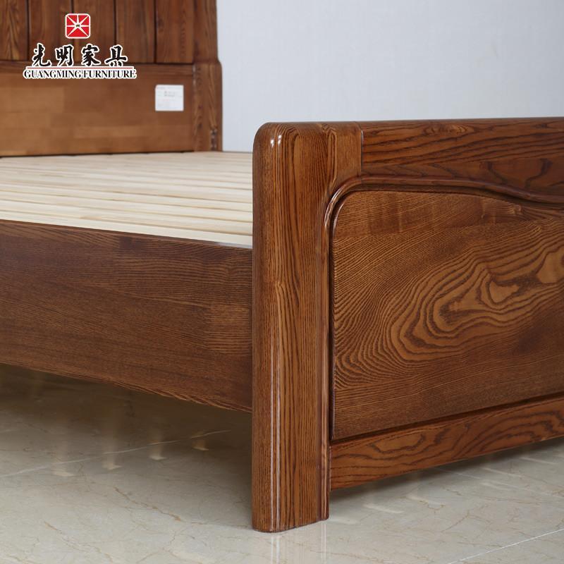 8米双人床新古典卧室实木家具水曲柳大床398-1551