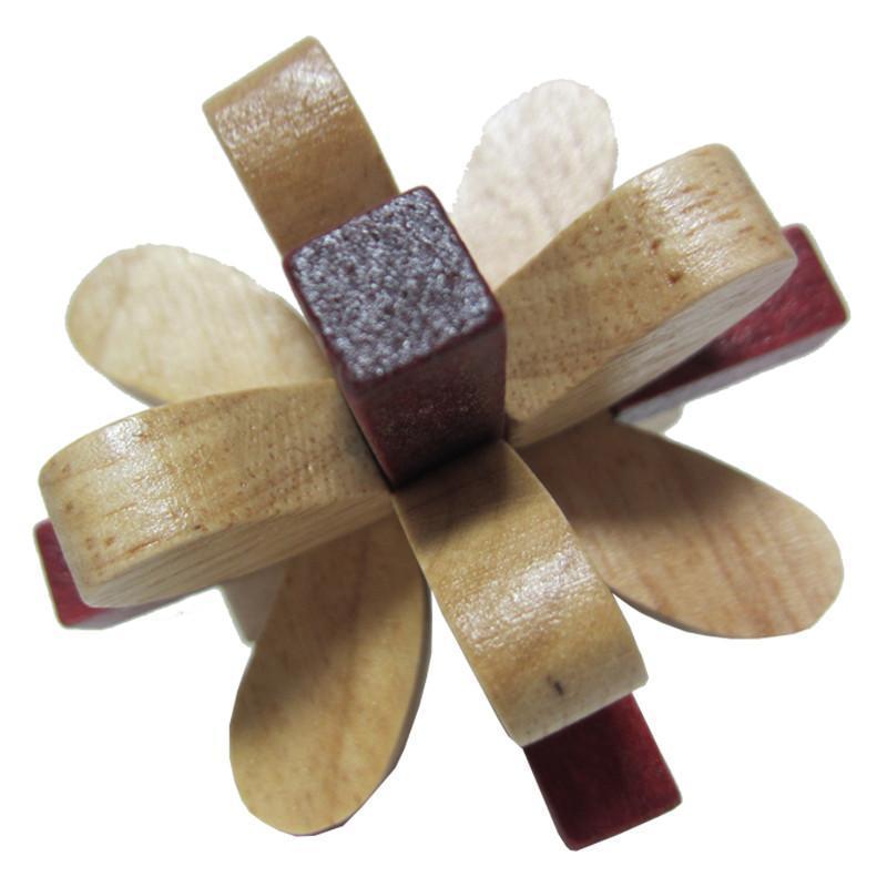 鲁班锁八角球解法图解展示