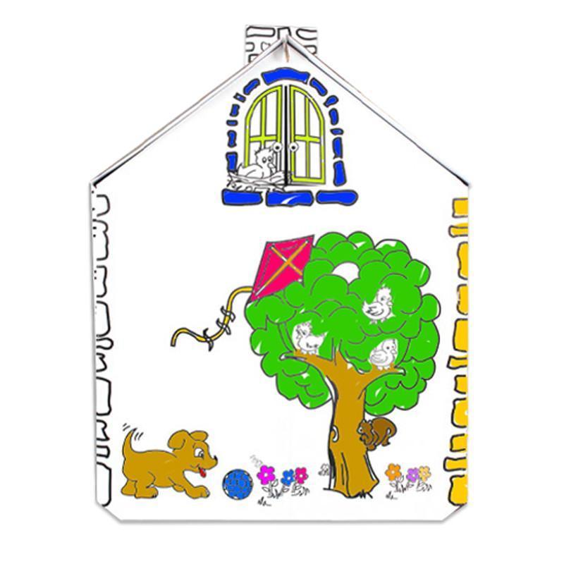 【魔卡童立体拼插】手绘游戏屋---俄罗斯大房子