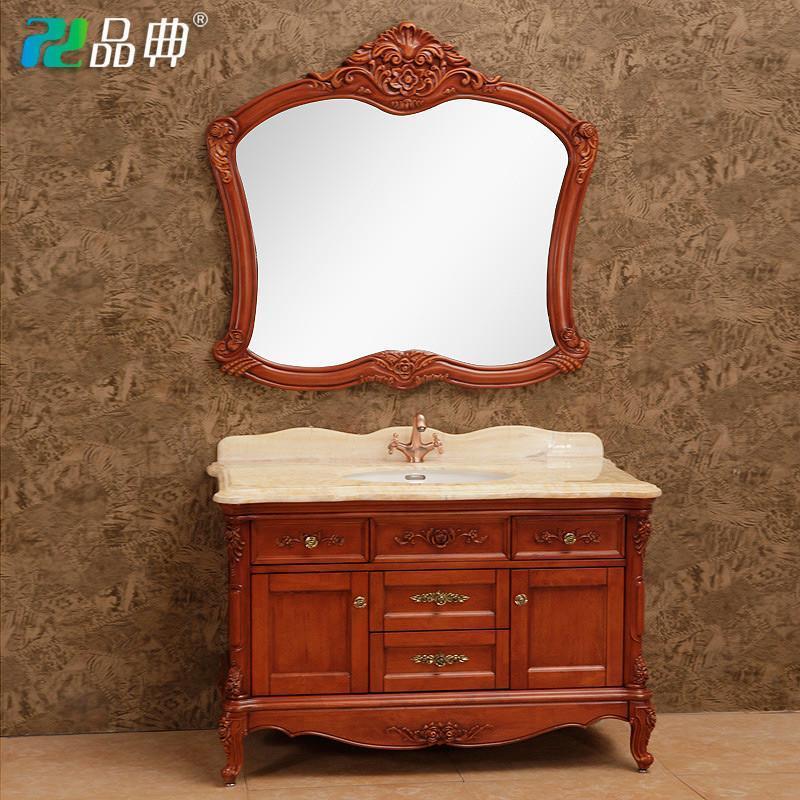 【品典卫浴家具】品典高端实木浴室柜组合欧式仿古柜