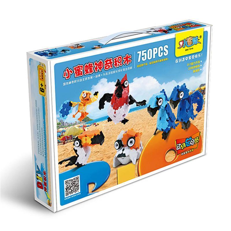 小动物蜜蜂3D礼貌拼装猴子积木750片玩具总动小品牌懂神奇了图片