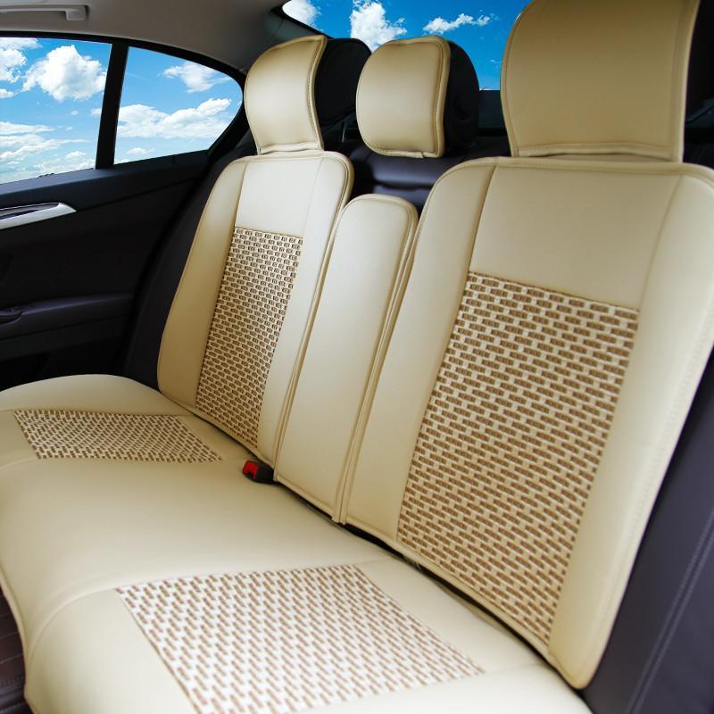 karcle卡客 新款汽车坐垫 四季通用 冰丝皮革座垫 宝来朗逸凯美瑞速腾