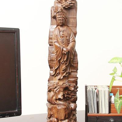 郑品 木雕念珠观音雕像摆件 进口非洲黑檀木s-2014wh6md16d