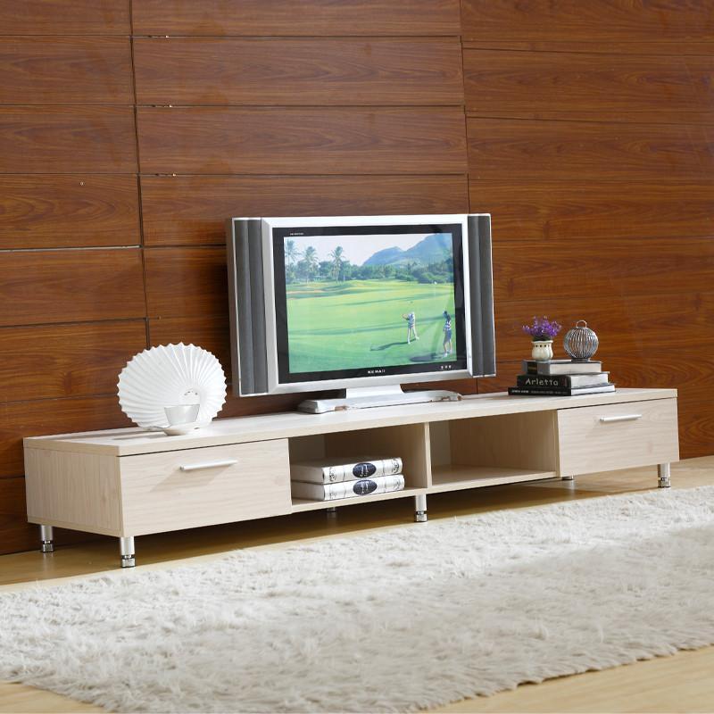 现代简约板式电视柜白松色