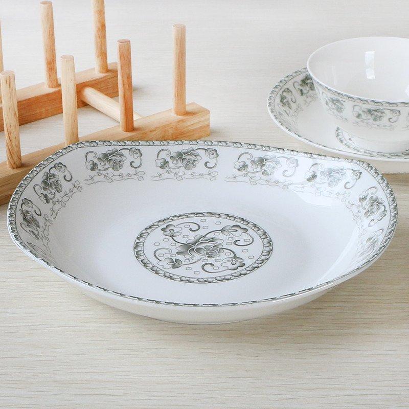 盘子 碟子 菜盘子 碗碟 套瓷碗碟盘子勺子多器型可选