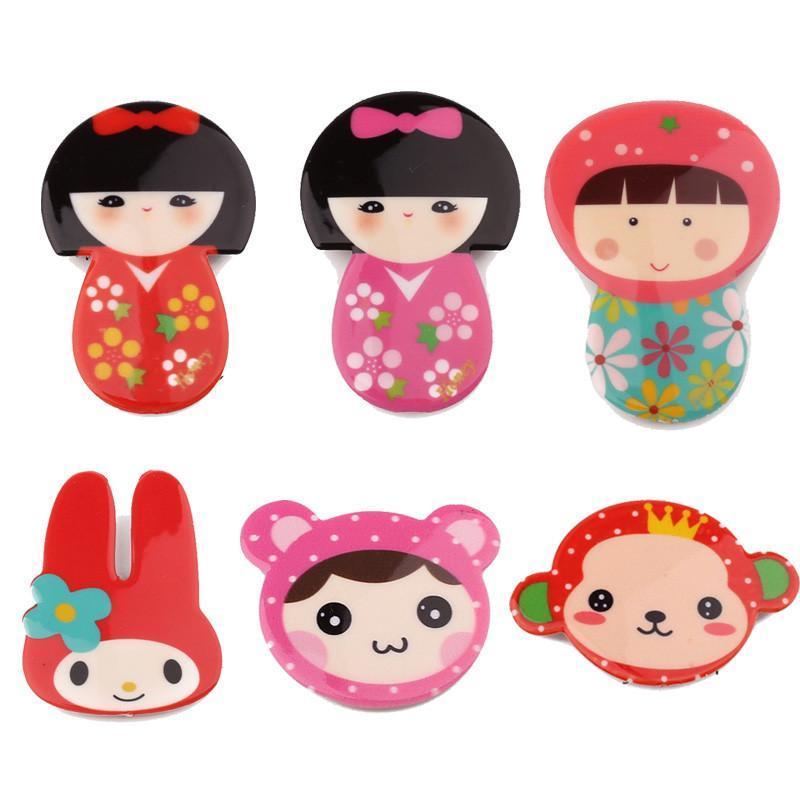 kamida卡通发帖女童刘海贴碎发贴儿童宝宝发饰品配饰可爱拟人发贴