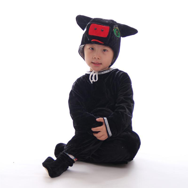 儿童动物套装幼儿小猪粉猪蓝猪绿猪黄猪演出服装表演