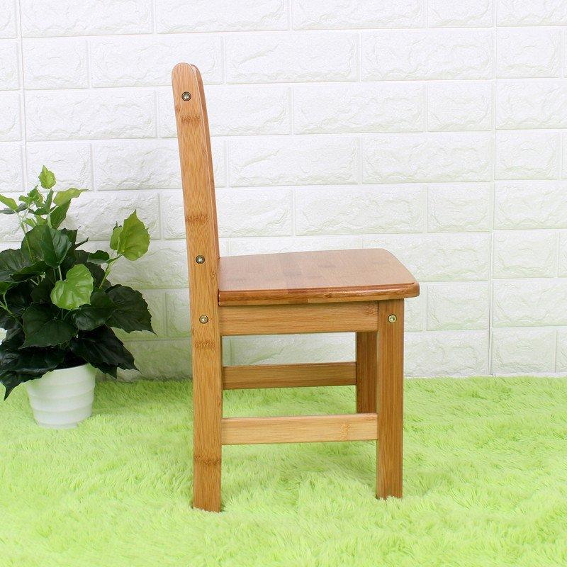 儿童椅子实木靠背椅楠竹家用餐椅小板凳方凳幼儿园学