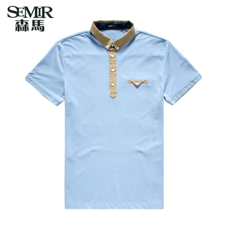 【森马(semir)男士polo衫】森马2015夏装新款短袖t恤图片