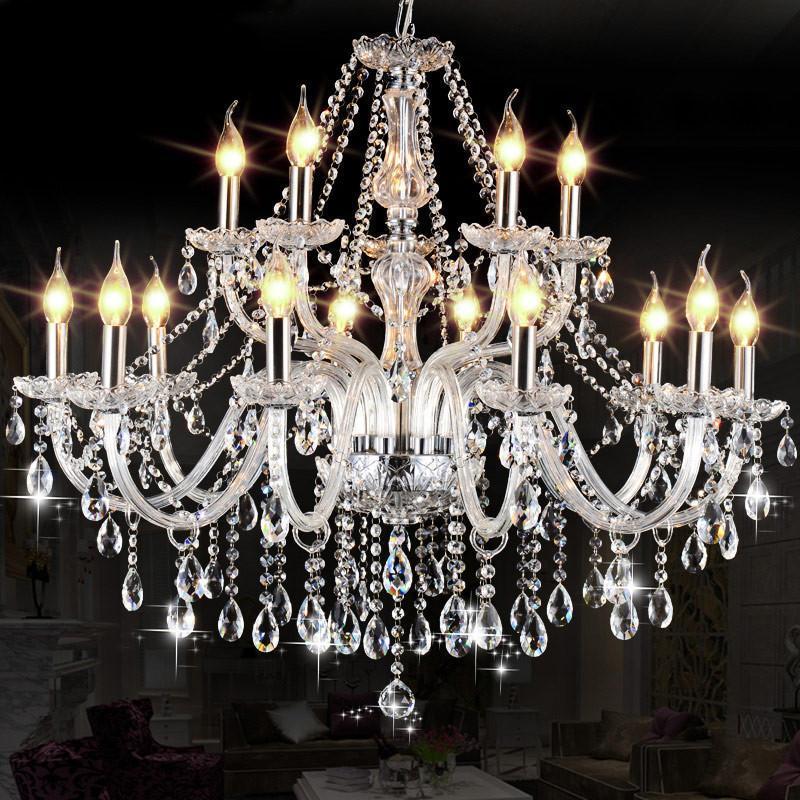 越展 贵族非凡 欧式水晶灯 吸顶吊灯具 复古布艺灯罩客厅餐厅卧室 6头