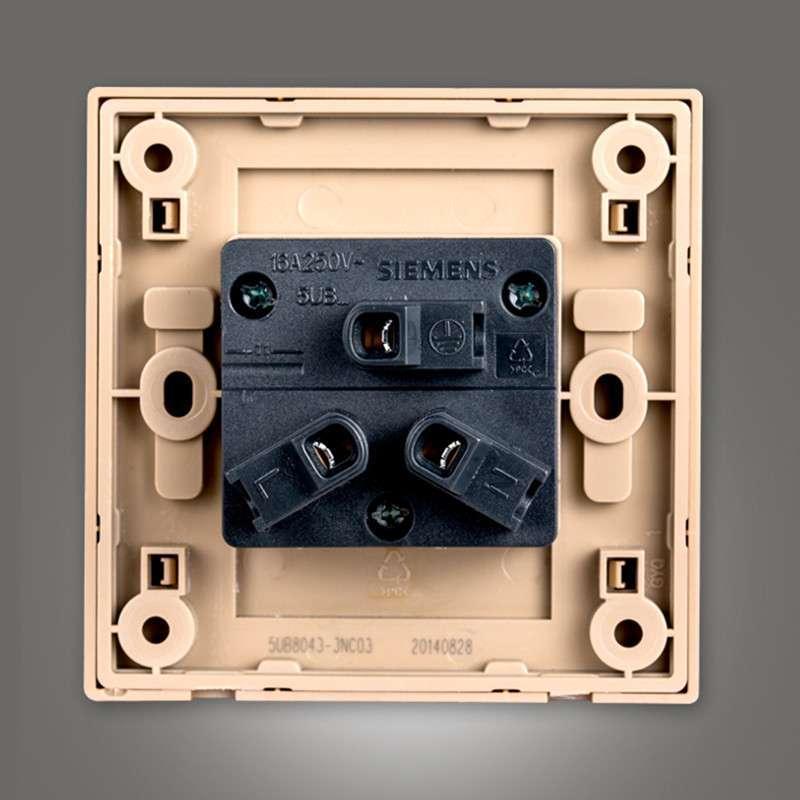 西门子开关面板西门子悦动系列香槟金色16a三孔空调电源插座