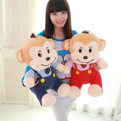毛绒玩具小猴儿童玩具超萌猴子公仔背带猴玩偶毛绒玩具儿童节生日礼物