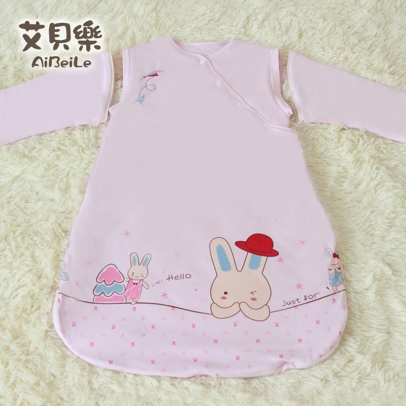 艾贝乐婴儿睡袋夏季 宝宝睡袋纯棉春夏 全棉儿童睡袋防踢被空调房