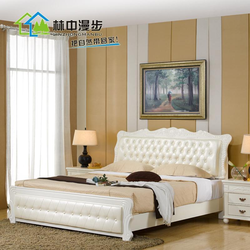 欧式床橡木床实木