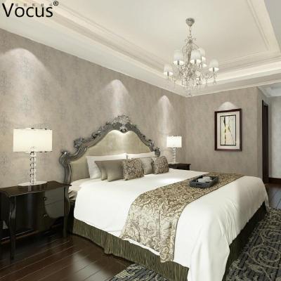 欧式客厅暖色墙布装修效果图