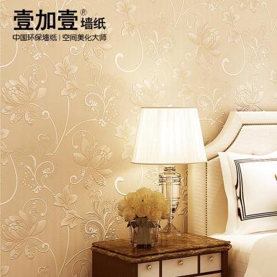 墙纸欧式田园壁纸卧室客厅电视背景墙影视墙3d壁纸