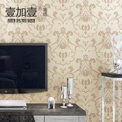 壹加壹大马士革高端3d浮雕客厅卧室电视背景影视墙欧式无纺布壁纸