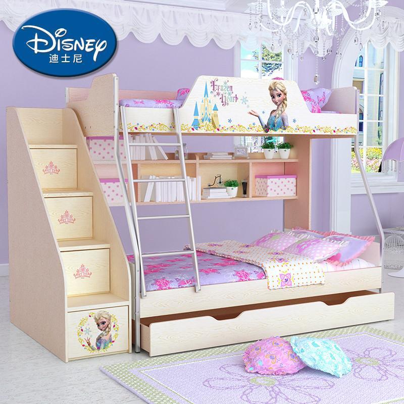 迪士尼高低床 雙層床 酷漫居子母床 上下床 兒童床 木紋系列 奇幻冰