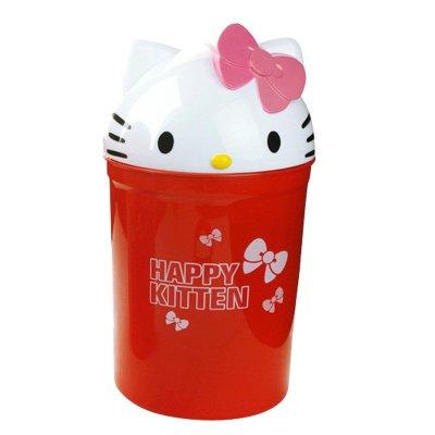 家用卫生间垃圾桶 塑料翻盖垃圾筒